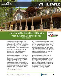 Understand the True Cost of Building with Insulated Concrete Forms White Paper with Fox Blocks | Green Harbor Building Systems GA