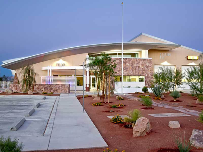 Award Winning Fox Blocks ICF LEED Silver Government Project - Fire Station 107 in Las Vegas NV - Green Harbor Building Systems GA
